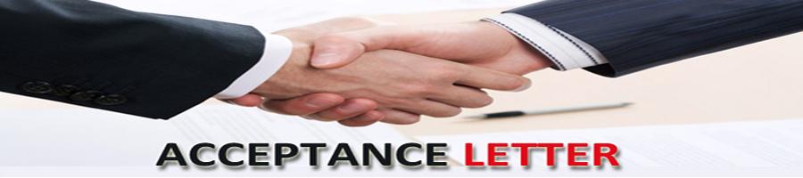Acceptance letter - HR helpboard