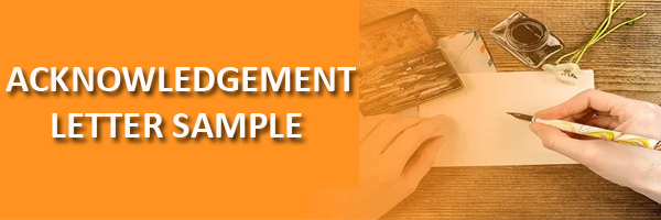 How to write Acknowledgement Letter -Sample Format -Hrhelpboard