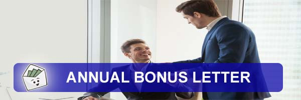 Annual Bonus Letter To Employee Paid After Bonus Calculation