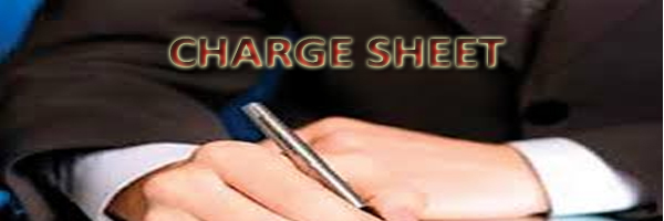 charge sheet letter