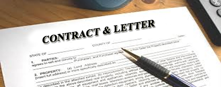 Contract and Letter