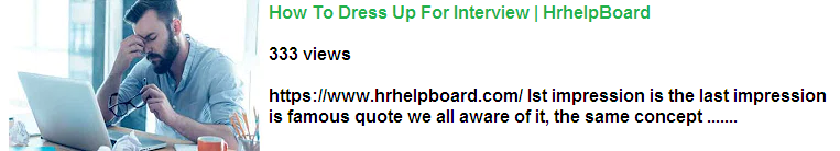 dress up for interview -hrhelpboard - video
