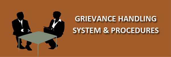 grievance handling system policy and procedure