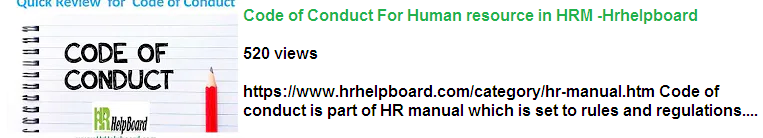 hrhelpboard-code of conduct -video