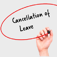 cancellation of leave policy