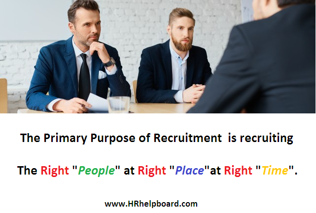 purpose of recruitment - Hrhelpboard