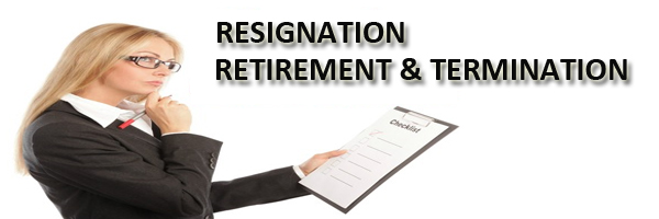 Resignation Retirement Termination in Organization - HR Helpboard