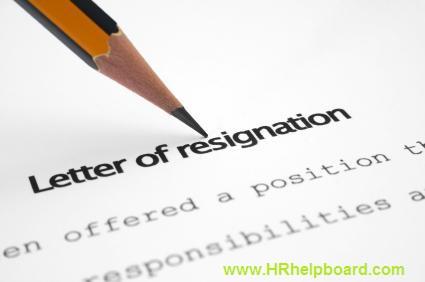 Resignation Letter - hrhelpboard