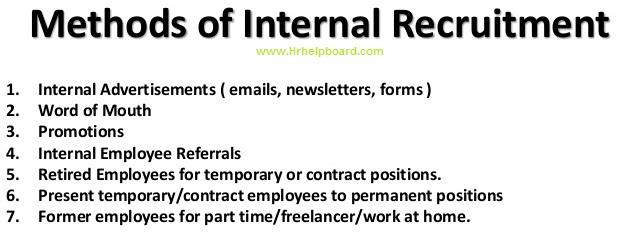 methods of internal recruitment - hrhelpboard