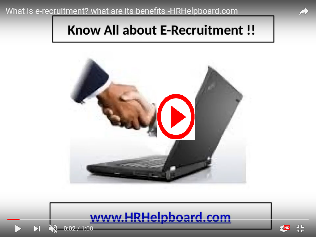E-recruitment  -HRHelpboard