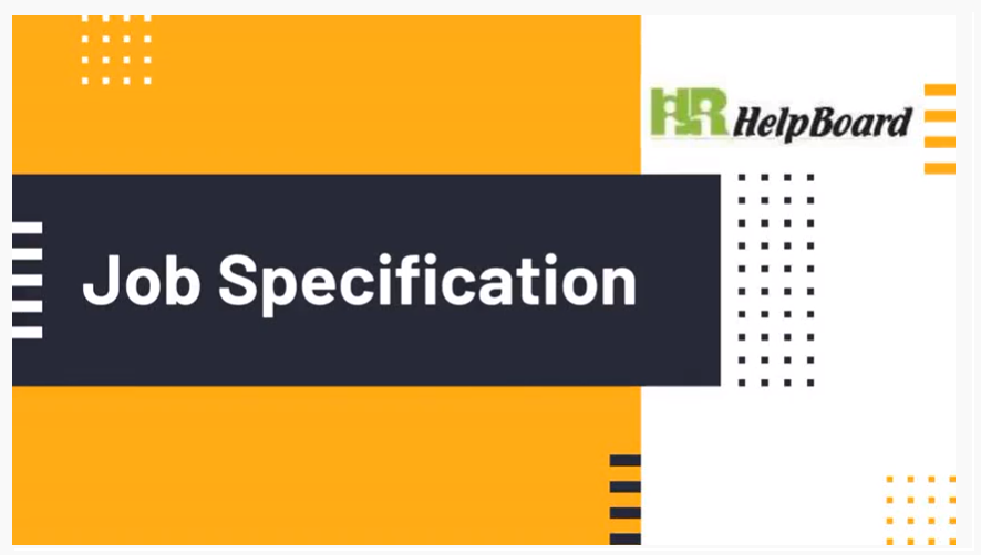 What is Job Specification?